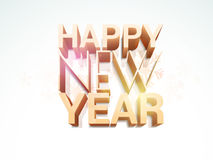 Poster, banner or flyer for Happy New Year celebrations. Stylish 3D text of Happy New Year on snowflakes decorated background, can be used as poster, banner or Stock Images