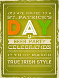 Poster, banner or flyer for Happy St. Patricks Day. Stock Photo