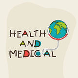 Poster, banner or flyer for Health and Medical. Stock Photo