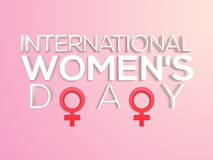 Poster, Banner or Flyer for International Women's Day. Royalty Free Stock Photos