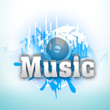 Poster, banner or flyer for Music. Royalty Free Stock Images
