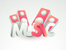 Poster, banner or flyer for Music. 3D text Music with stylish speakers, can be used as poster, banner or flyer design Royalty Free Stock Images