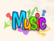Poster, banner or flyer for Music. Stock Photography
