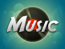 Poster, banner or flyer for Music. Royalty Free Stock Photo