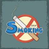 Poster, banner or flyer for No Smoking Day. Stock Photo