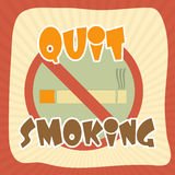 Poster, banner or flyer for No Smoking Day. Stock Images