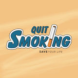 Poster, banner or flyer for No Smoking Day. Stock Image