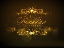 Poster, banner or flyer for Ramadan Kareem celebration. Stock Photography