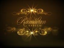 Poster, banner or flyer for Ramadan Kareem celebration. Stock Photography