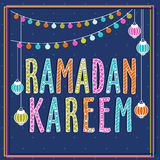 Poster, Banner or Flyer for Ramadan Kareem. Stock Photography