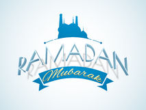 Poster, Banner or Flyer for Ramadan Mubarak. Royalty Free Stock Images