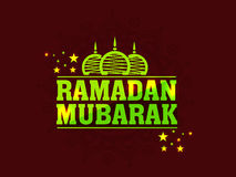 Poster, banner or flyer for Ramadan Mubarak. Stock Images