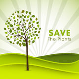Poster, banner or flyer for Save Plants. Royalty Free Stock Photo