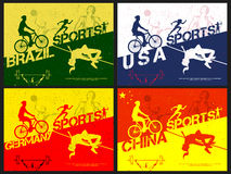 Poster, Banner or Flyer for Sports concept. Stock Images