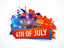 Poster, Banner or Flyer for 4th July. American Flag color splash decorated, Poster, Banner or Flyer design for 4th of July, Independence Day celebration Stock Photography