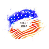 Poster, Banner or Flyer for 4th July celebration. American National Flag colors Poster, Banner or Flyer design for 4th of July, Independence Day celebration Royalty Free Stock Photo