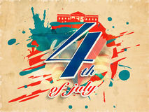 Poster, Banner or Flyer for 4th of July. Royalty Free Stock Photos