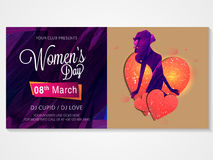 Poster, banner or flyer for Women's Day. Stock Photography