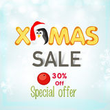 Poster, banner or flyer for Xmas sale. Stock Photography