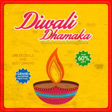 Poster or banner for Happy Diwali Sale celebration. Royalty Free Stock Photo