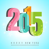 Poster or banner for Happy New Year 2015. Stock Photo