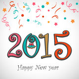 Poster or banner for Happy New Year 2015. Stock Photography