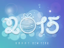 Poster or banner for Happy New Year 2015. Stock Photos