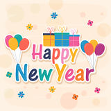 Poster or banner for Happy New Year. Stock Image