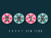 Poster or banner for Happy New Year 2015. Royalty Free Stock Photos