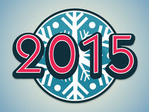 Poster or banner for Happy New Year 2015. Poster for Happy New Year 2015 with stylish text on snowflakes Royalty Free Stock Photo