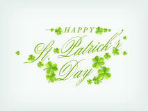 Poster or banner for Happy St. Patricks Day celebration. Royalty Free Stock Image