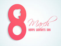Poster or banner for Happy Womens Day celebration. Royalty Free Stock Image