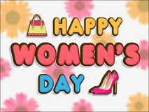 Poster or banner for Happy Womens Day celebration. Royalty Free Stock Photo