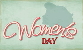 Poster or banner for Happy Women's Day celebration. Stock Photos