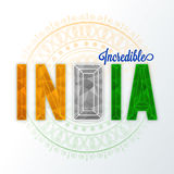 Poster, Banner for Indian Republic Day celebration. Stock Photography