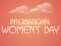 Poster or banner for International Womens Day celebration. Stock Photos