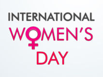 Poster or banner for International Womens Day celebration. Royalty Free Stock Images