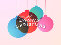 Poster or banner for Merry Christmas celebrations. Royalty Free Stock Photography