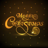 Poster or banner for Merry Christmas celebrations. Stock Images