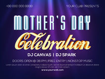 Poster or Banner for Mother's Day Party celebration. Creative Club Party Banner, Poster or Flyer design with stylish typographical background on occasion of Stock Images