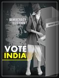 Poster banner show hand of Indian people for election and vote polling campaign of India. Easy to edit vector illustration of poster banner show hand of Indian royalty free illustration