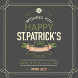 Poster or banner for St. Patrick's Day celebration. Stock Photo