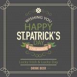 Poster or banner for St. Patricks Day celebration. Stock Photo