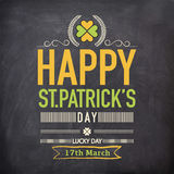 Poster or banner for St. Patricks Day celebration. Royalty Free Stock Image