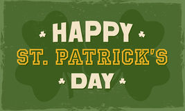 Poster or banner for St. Patrick's Day celebration. Stock Photos