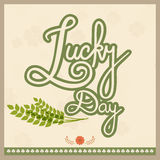 Poster or banner for St. Patricks Day celebration. Royalty Free Stock Photo