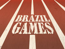 Poster, Banner with Stylish Text Brazil Games. Stock Image