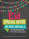 Poster, banner or template for Eid festival celebration. Royalty Free Stock Photos