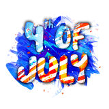 Poster or Banner for 4th of July celebration. Stock Image