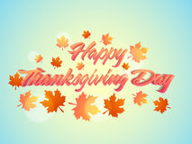 Poster or banner for Thanksgiving Day celebration. Royalty Free Stock Photo